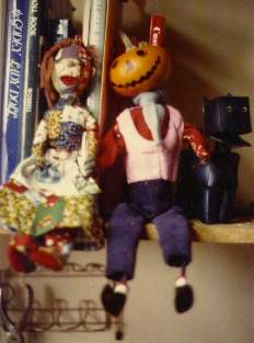 Dolls of the Patchwork Girl, Jack Pumpkinhead, and the Woozy