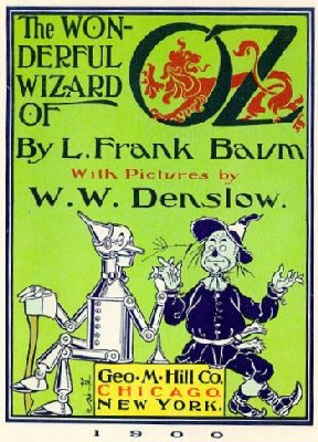 The title page from The Wonderful Wizard of Oz.